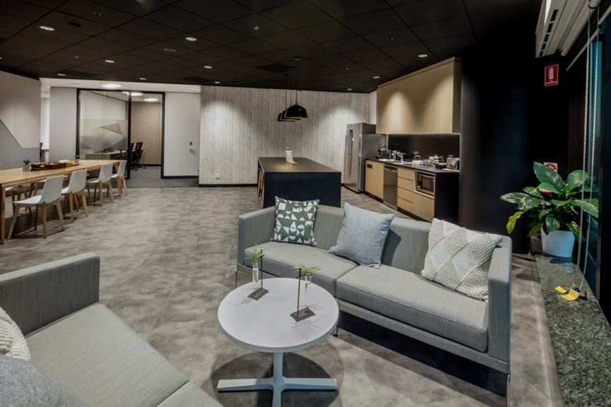 Lounge Space For Staff At Chubb Brisbane