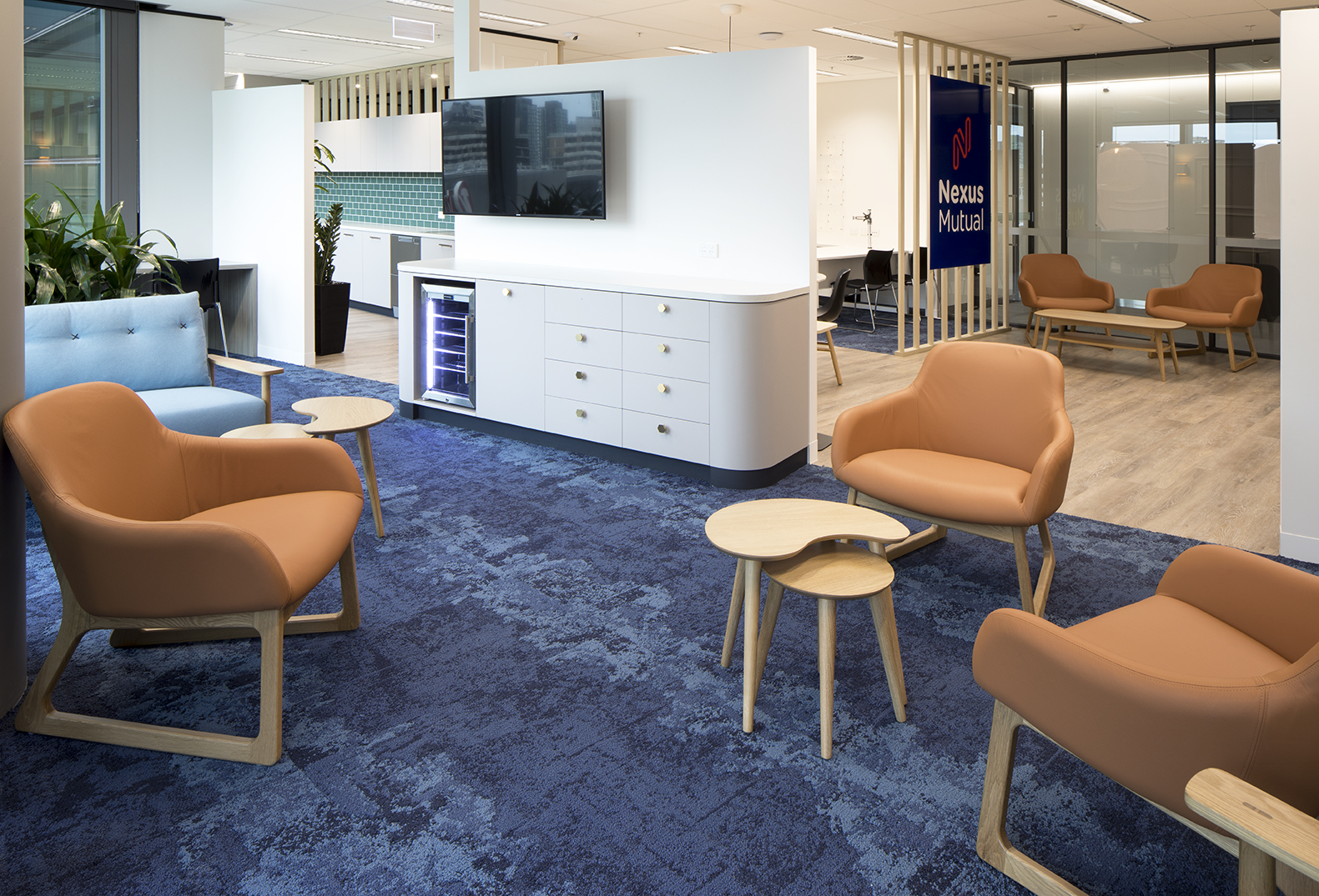 The members lounge at Nexus Mutual