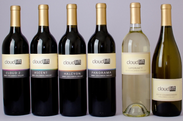 Image of Cloudlift Cellars wine - four reds and two whites