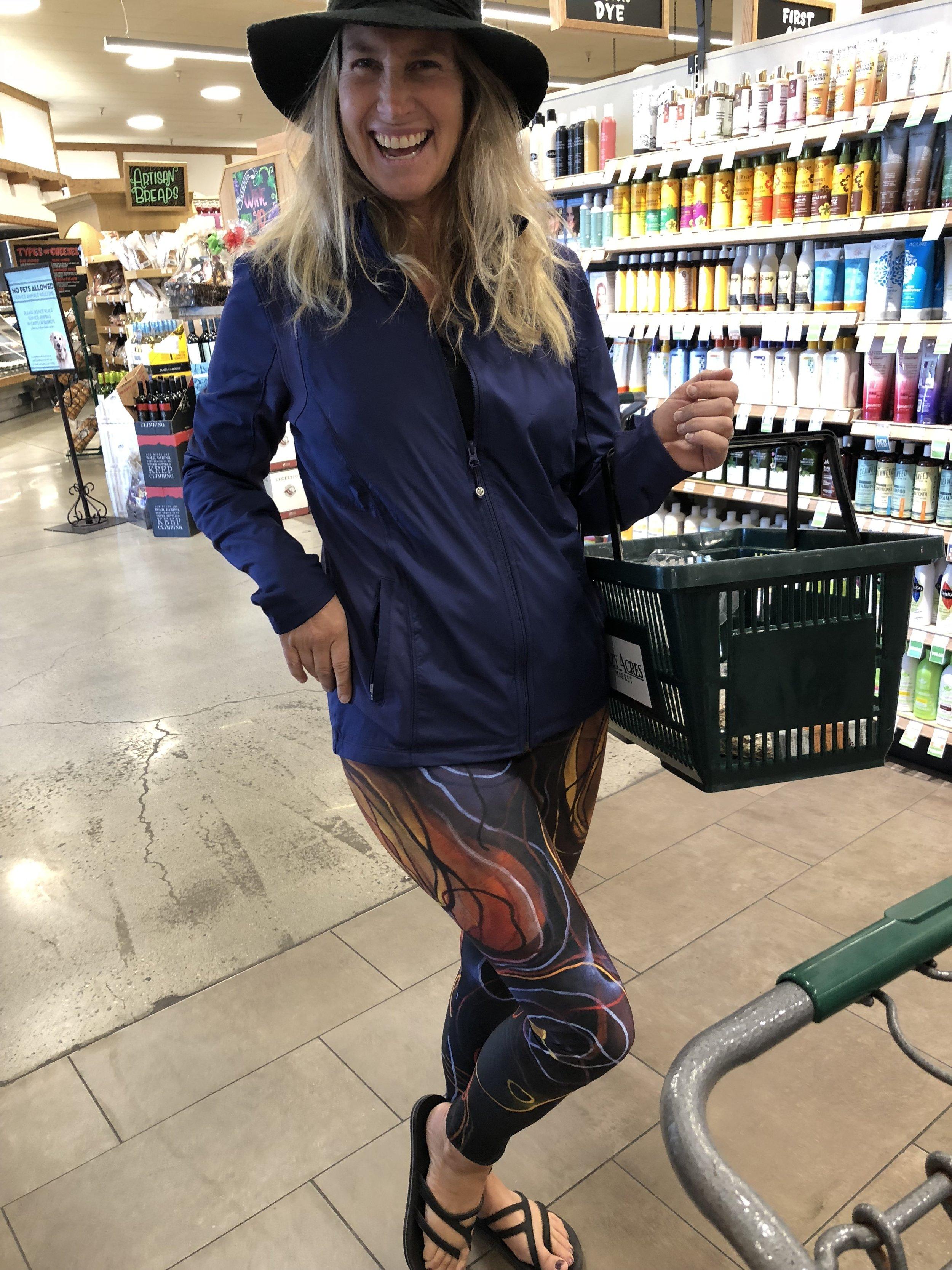 Happy customer sporting her Mashulka leggings.