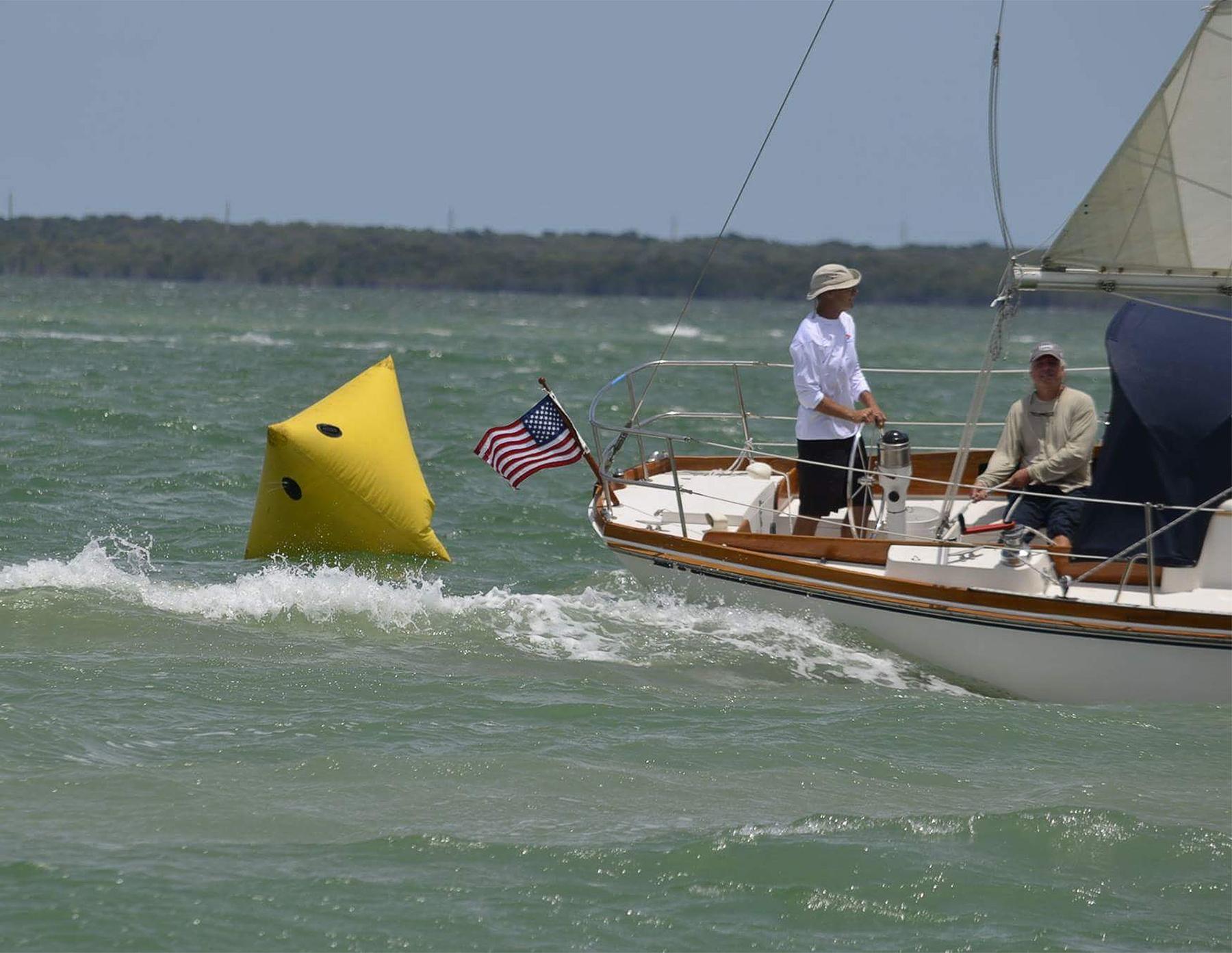 Finishing the Miami - Key Largo race.