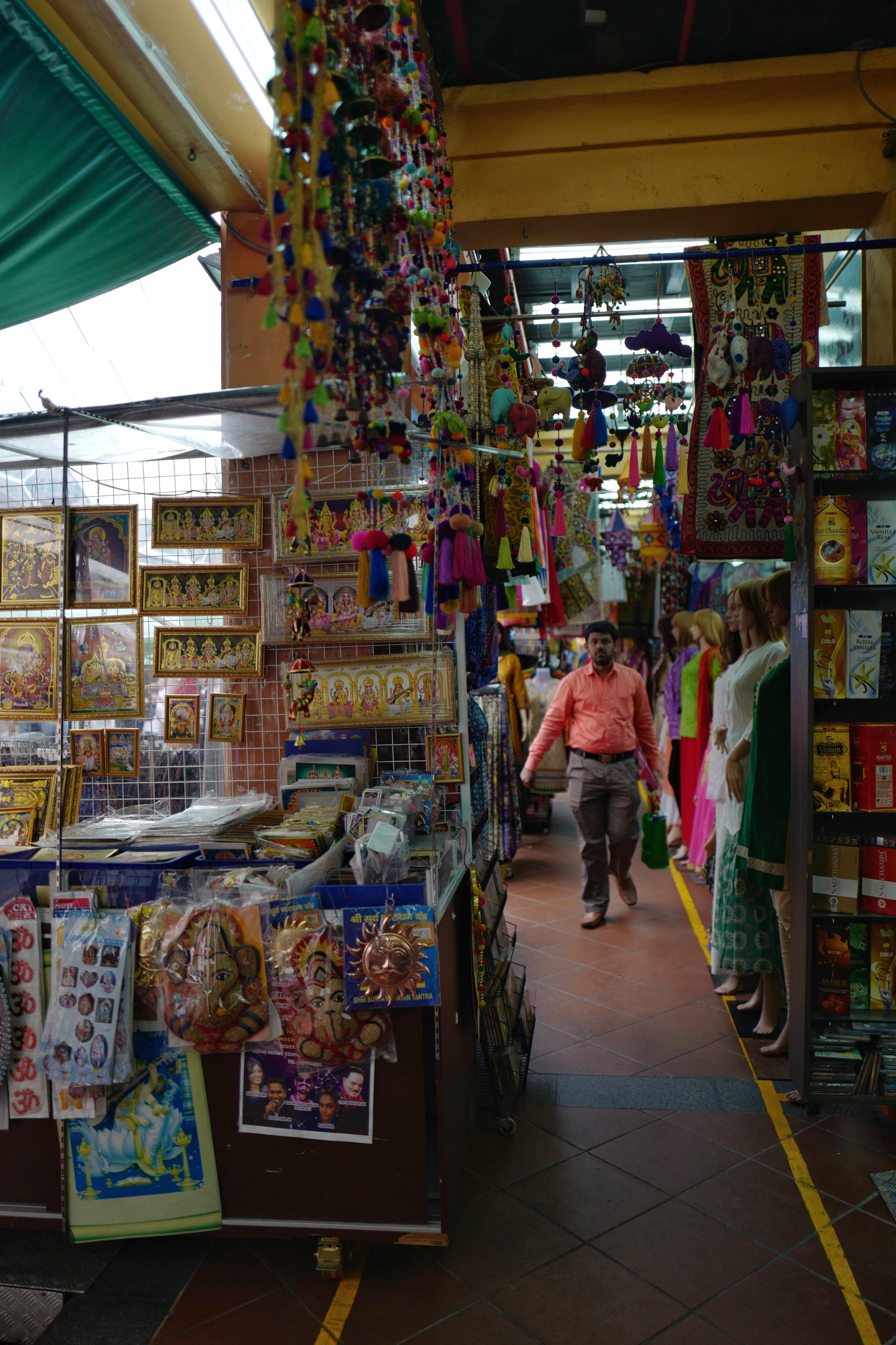 Along    Little India Arcade