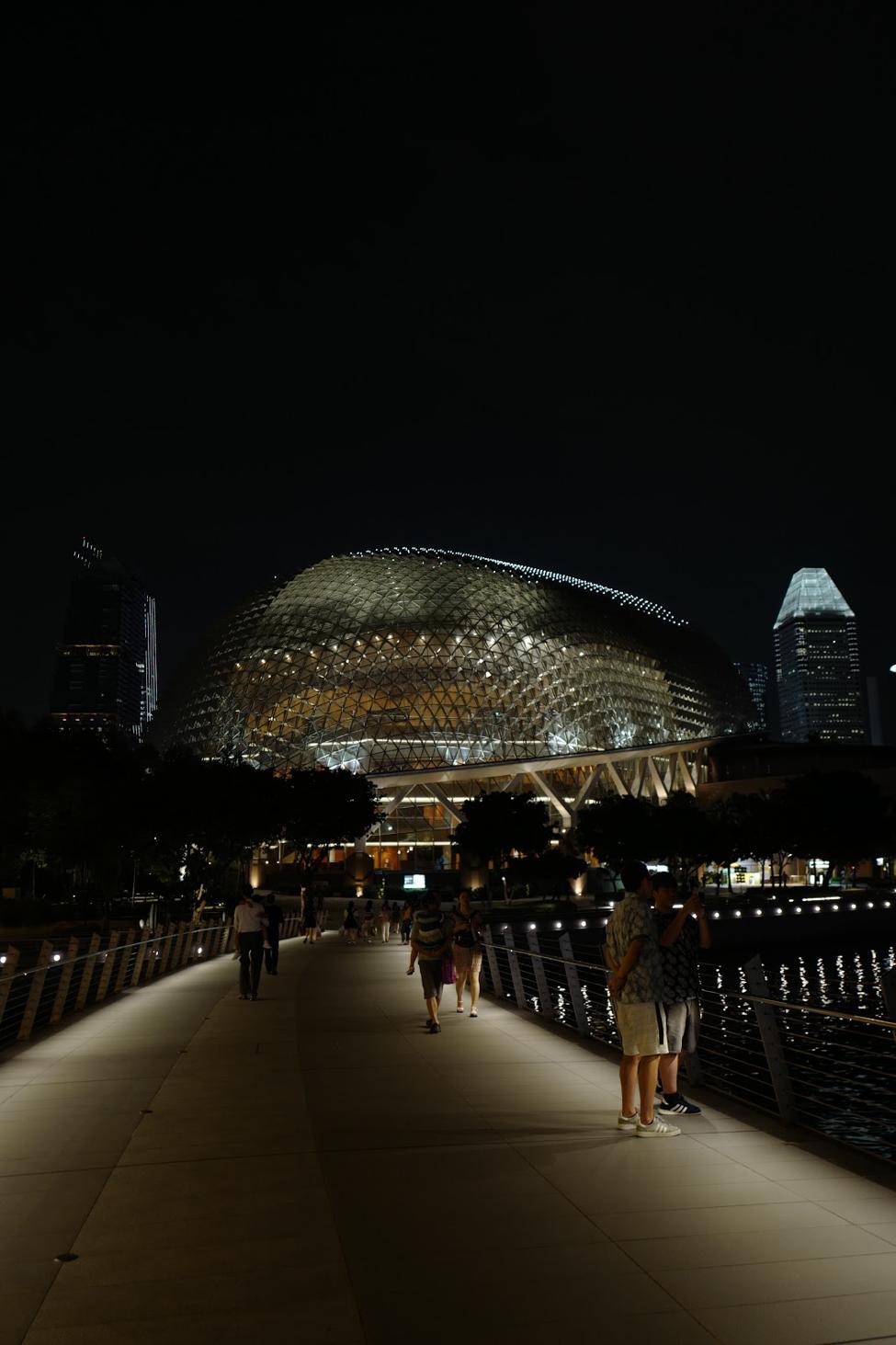 Views of the    Esplanade Theatre    from the Jubilee Bridge