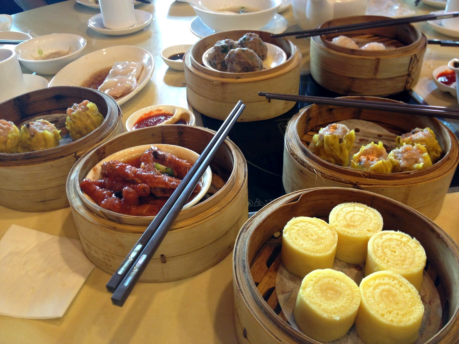 Dim sum spread at MingHin Cuisine