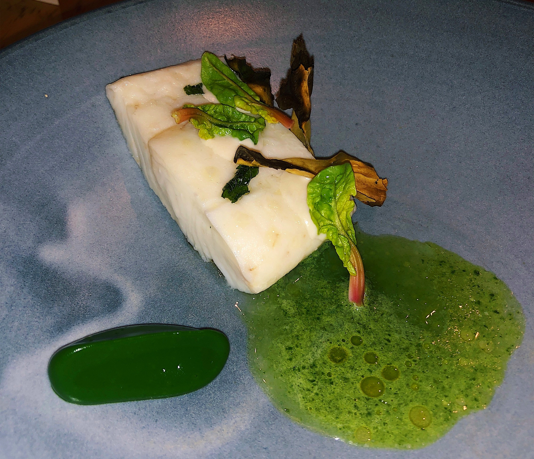 Steamed Fluke with Fermented Green Tea and Sorrel