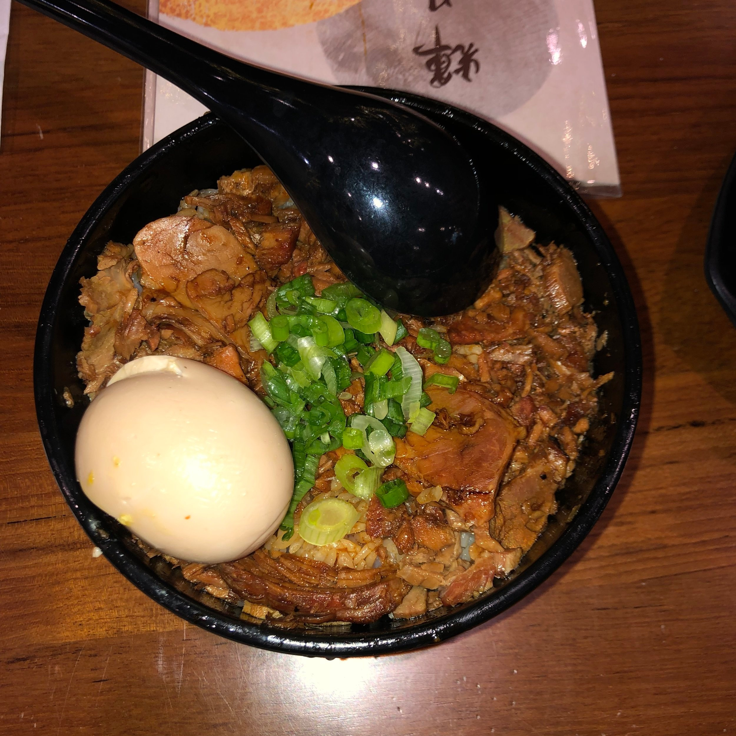 Pork Chashu Don with an egg