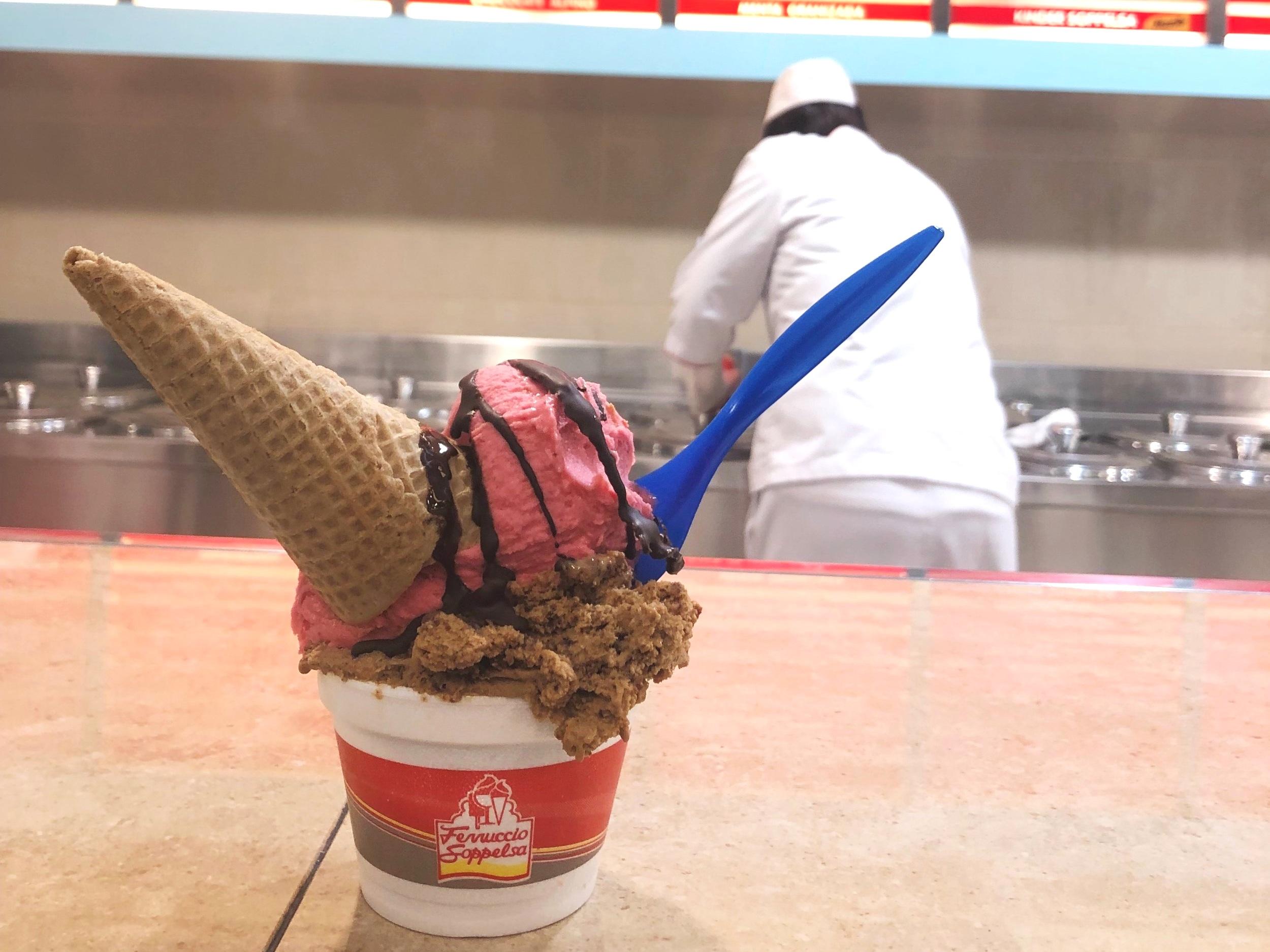 Ice cream from Ferruccio Soppelsa, Mendoza