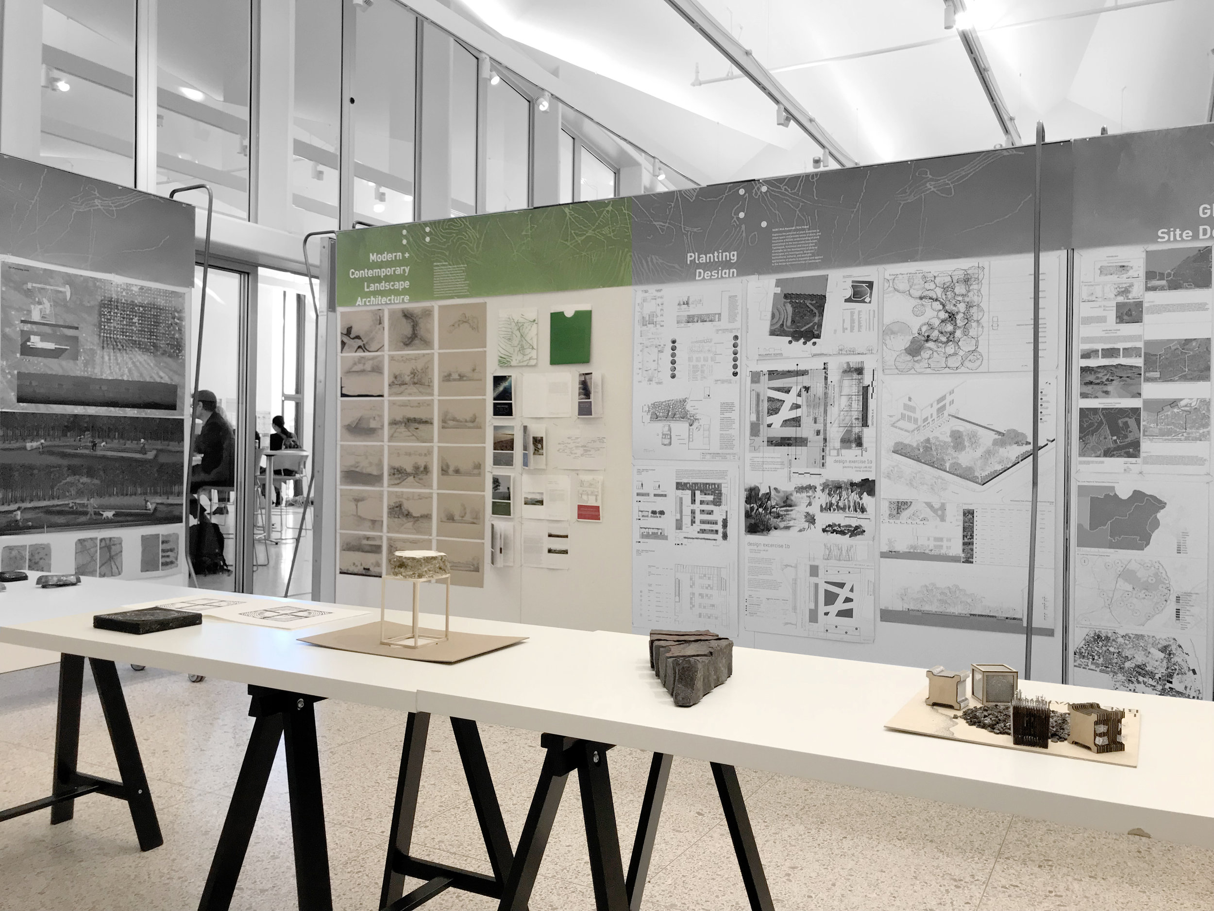 An exhibition for the Landscape Architecture Accreditation Board visit (2019). My student work in color.