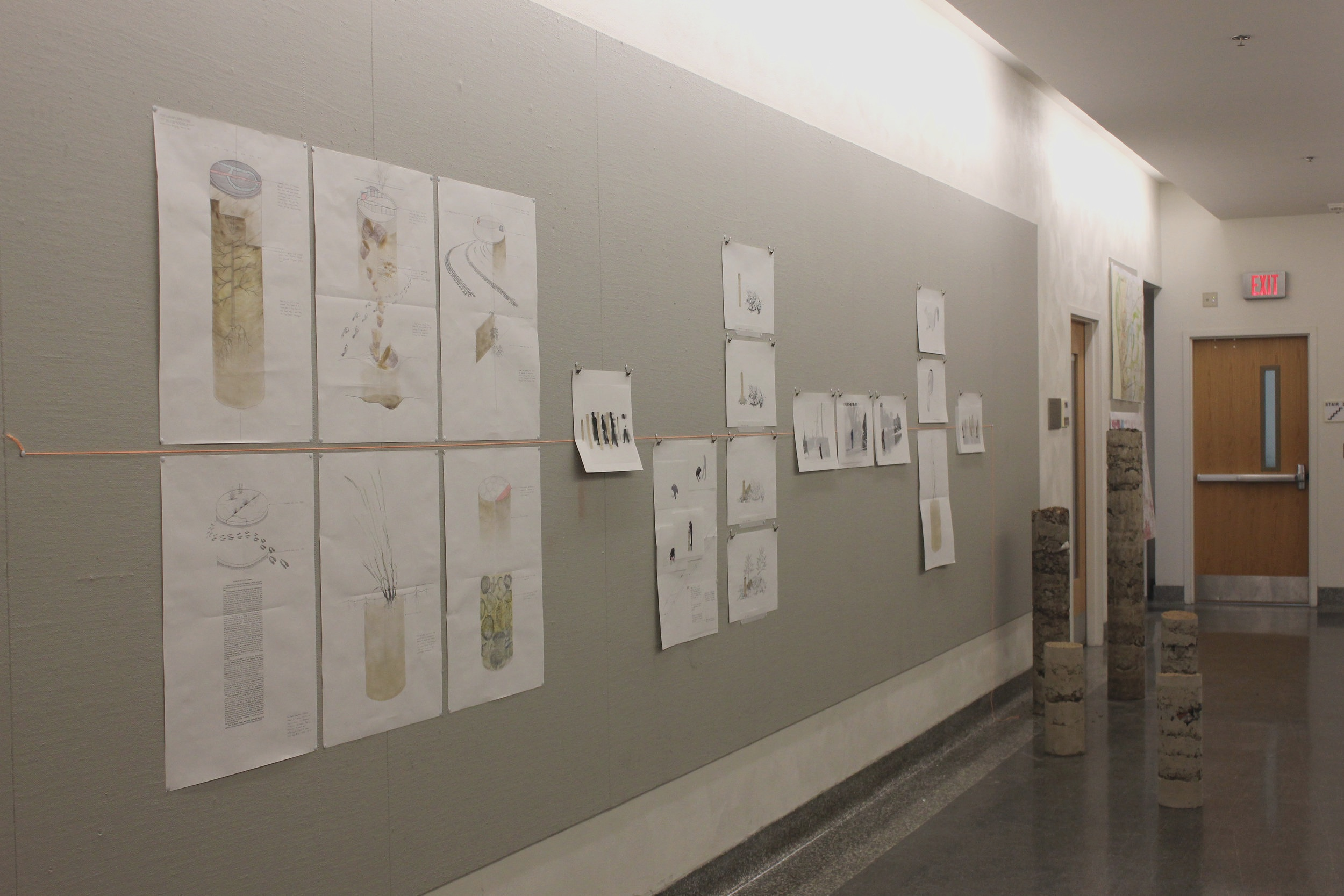 Exhibition of work at the Sam Fox School of Design and Visual Arts.  * Bromegrass Core  drawing collected by Jesse Vogler. * Approximate Core  sculptures collected by Amanda Bowles, Rod Barnett, and Jacqueline Margetts.