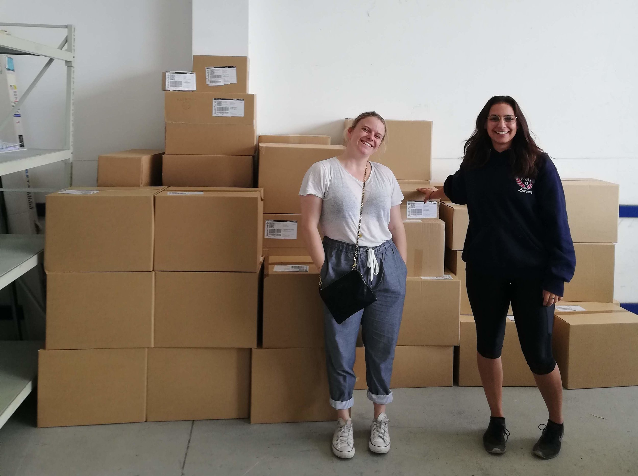 Jacinta and Miranda (Dignitys Co-founders) with our 2019 Term Two Give