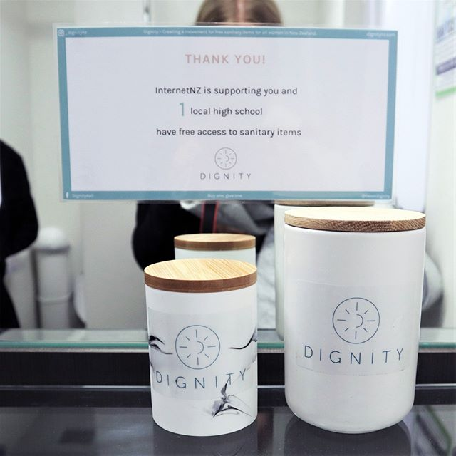 Today we got to visit the lovely office of InternetNZ and hear more about their mission to protect and promote the Internet for New Zealand. They've started supporting the Dignity initiative this year and we loved hearing how much the team appreciate the initiative. If you'd like to see Dignity at your workplace you get in touch through the link in bio 👭