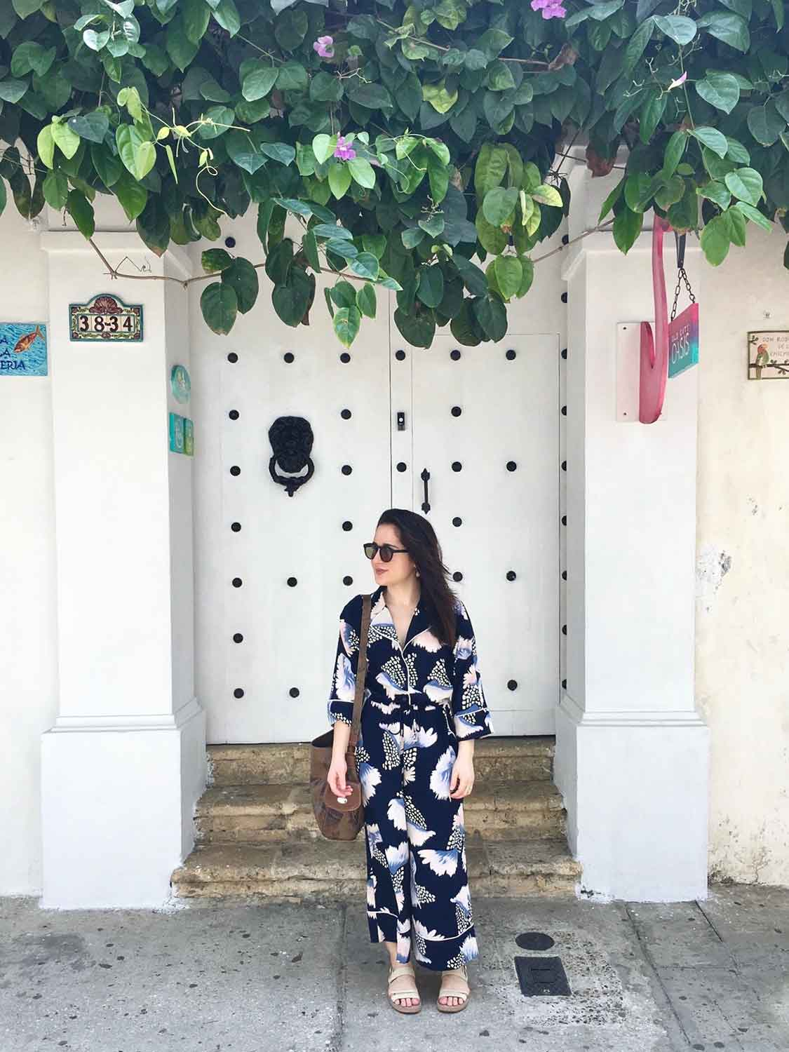 Jumpsuit:  ASOS  // Sunglasses:  SEE Eyewear  // Sandals:  Camper   // Bag: Vintage