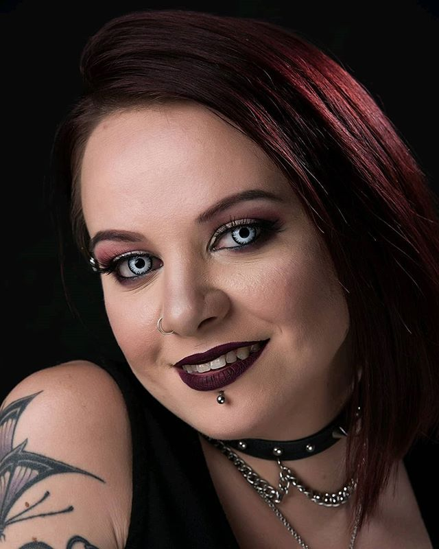 I got @nightshadebeautymua in the studio to get some shots of her new contacts from Spooky Eyes⠀ ⠀ #headshot #headshots #portraitphotography #professional #photographer #headshotphotographer #personalbranding #headshotphotography #portraitphotographer #beauty #beautyblogger #makeup #makeupinfluencer #beautyinfluencer #flawless #makeuplook #motd #goth #gothic #gothgirl #alternative #lippiercing #pierced #bodyjewelry #paleskin #palegirl #photoshoot #contacts #spookyeyes #florida