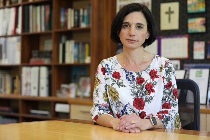 "PHOTO:  Merici College principal Loretta Wholley worries the mental health crisis could ""cycle out of control"". (ABC News: Elise Pianegonda)"