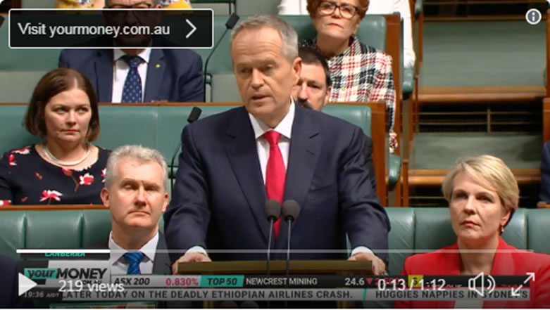 Bill Shorten targets healthcare and lower income earners. Watch the Speech here.