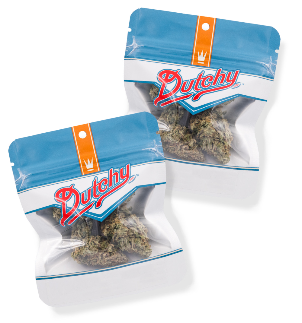 Whole Flower - Dutchy sources flower that's perfect for sharing; affordable enough to pass around without sacrificing quality. Our strains recall classic rock and the good old days. We don't mess with good flower genetics.1g | 3.5g | 7g