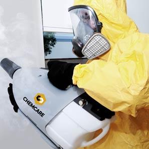 Decontaminating meth contamination with a special fogger machine
