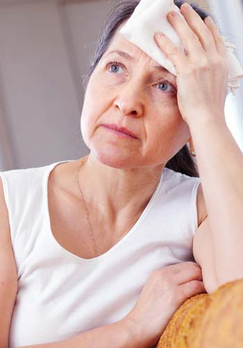Older lady feeling unwell after living in a house with meth contamination