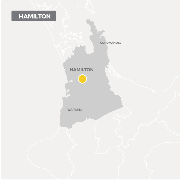 Chemcare offers decontamination services in Hamilton as shown on this map.