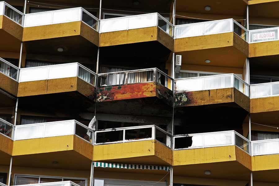 One apartment affected by a fire