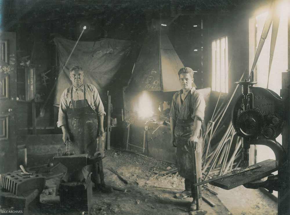 Two men in a Dunedin factory