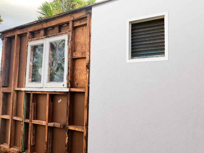 Many older buildings in New Zealand still have exterior cladding with asbestos. When undisturbed, the cladding can still safely serve the building. Care must be taken, however, when replacement with new cladding is planned. -