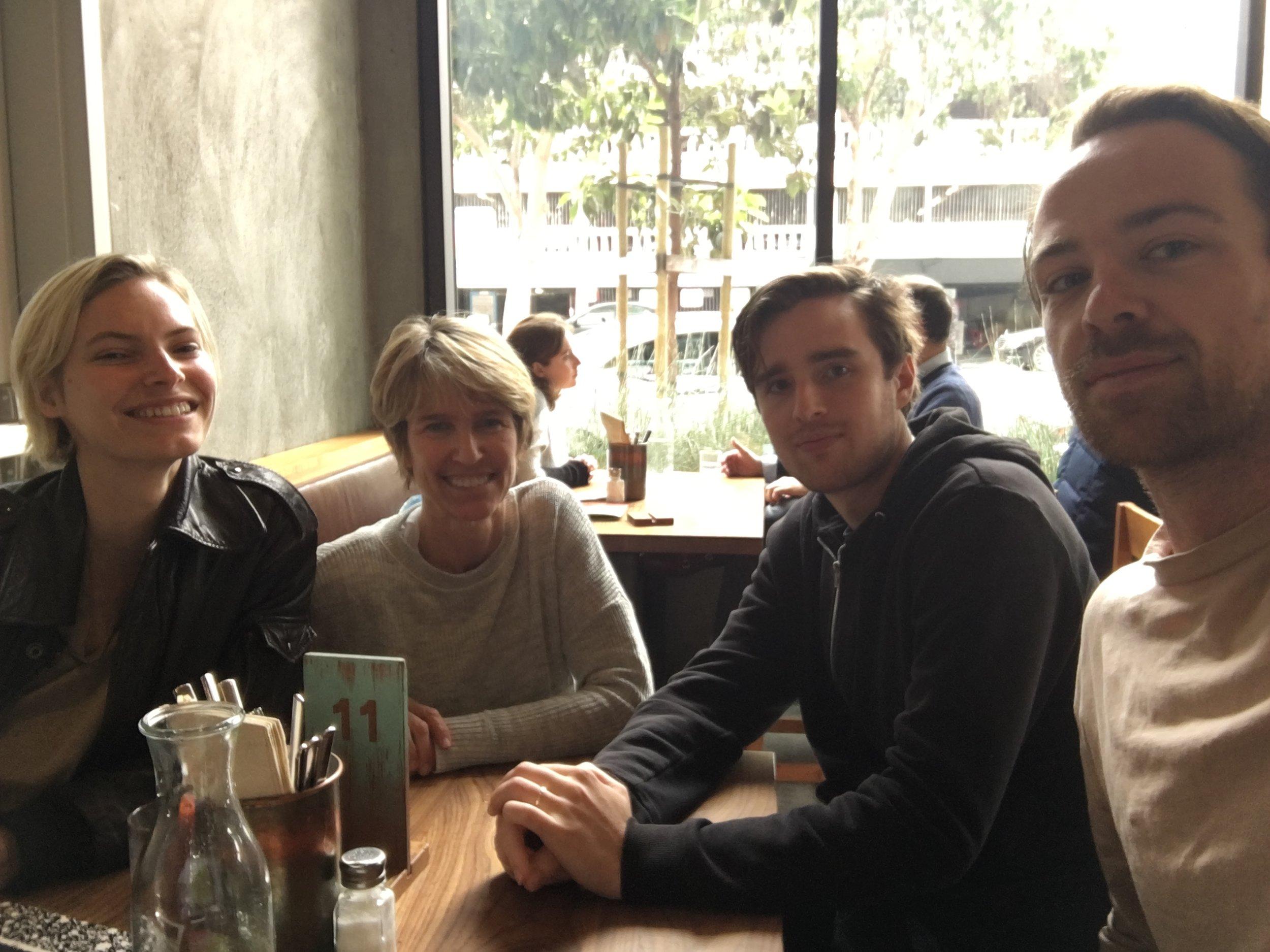 LIlie Hoy, me, James Jackson and Luke Acret.