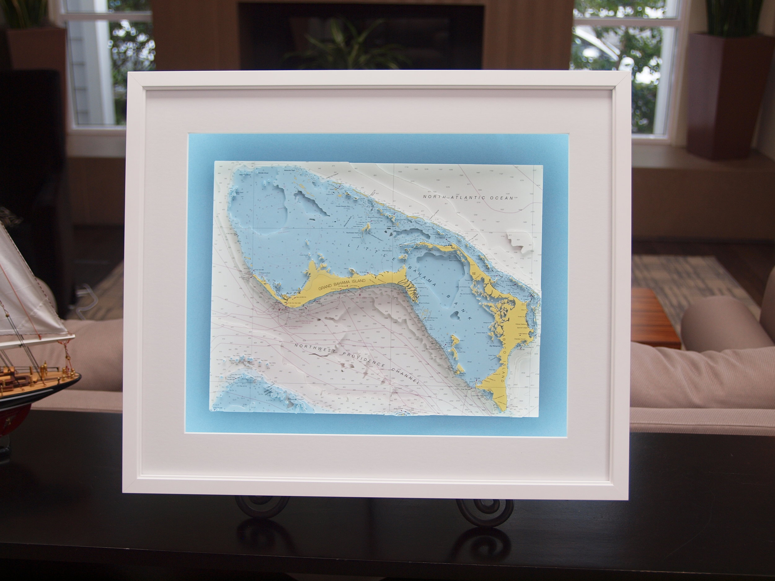 3D nautical chart of the Bahamas by Neptune Maps