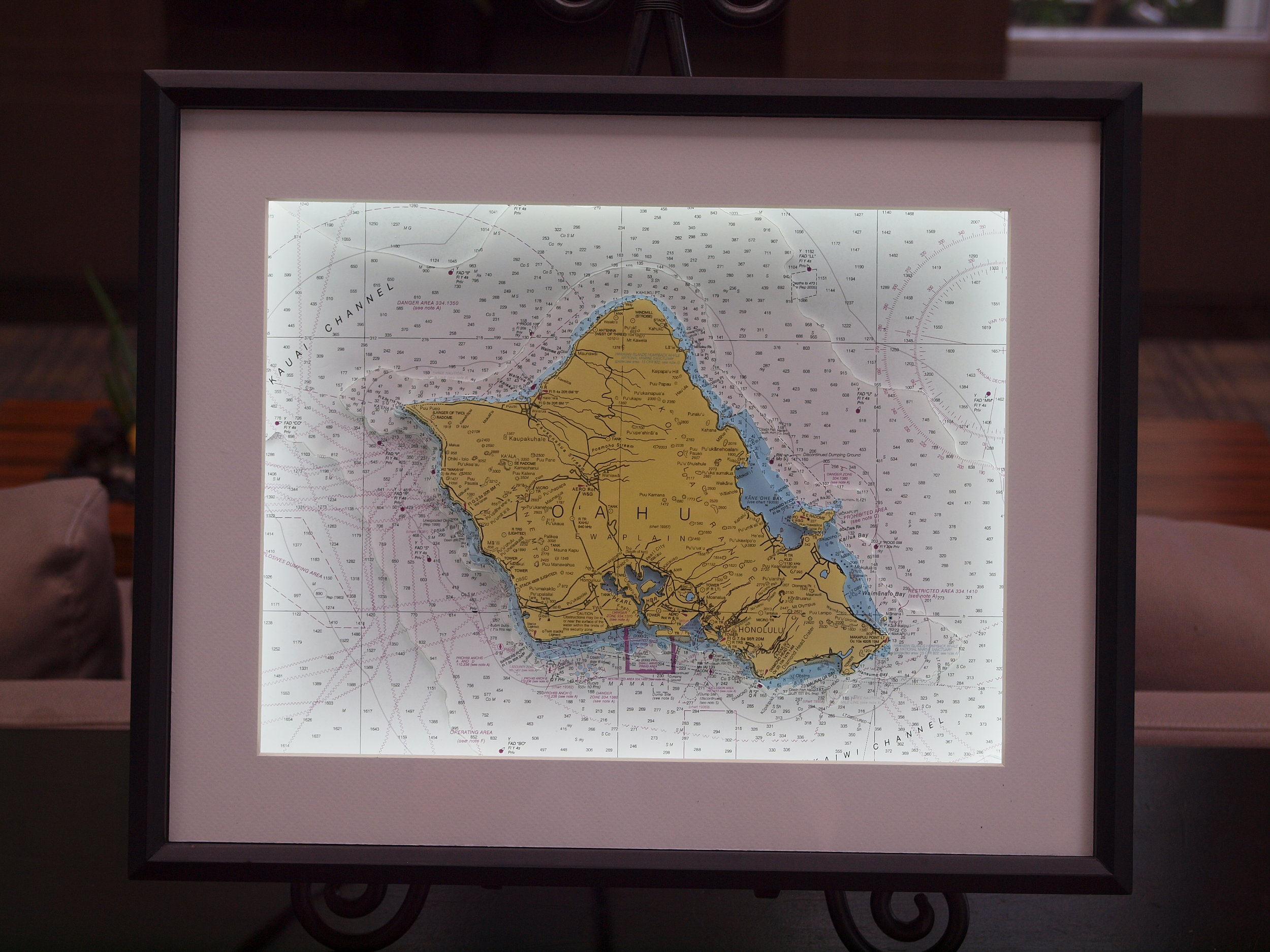 3D nautical chart of Oahu, Hawaii, USA by Neptune Maps