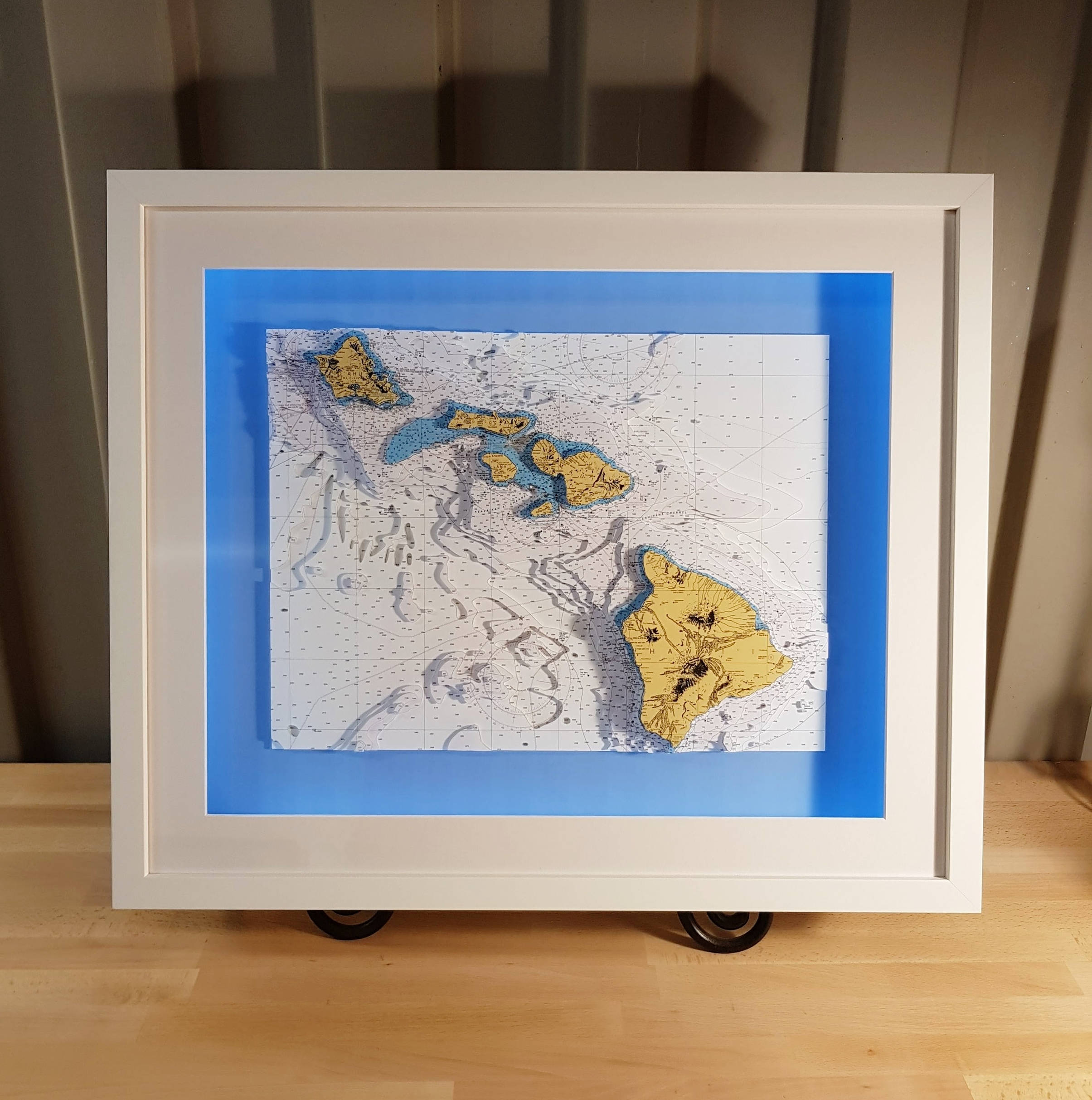 3D nautical chart of Hawaii