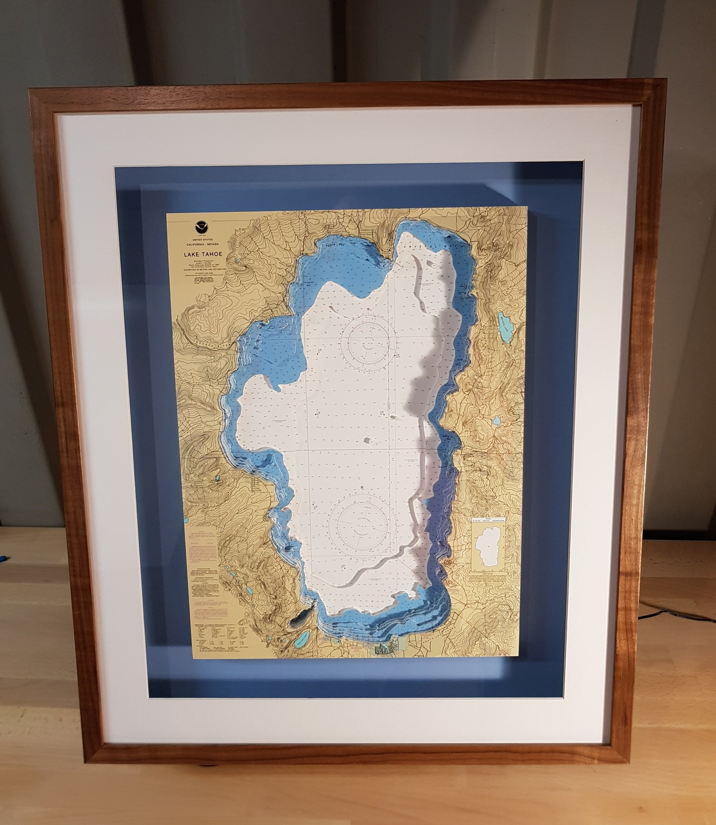 Lake Tahoe 3D Nautical Chart