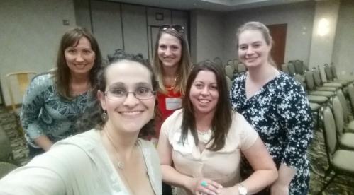 New kid lit friends (left to right)Rosie Pova, Jennifer Broedel, me, Jaclyn Kruzie and Jennifer Laughlin