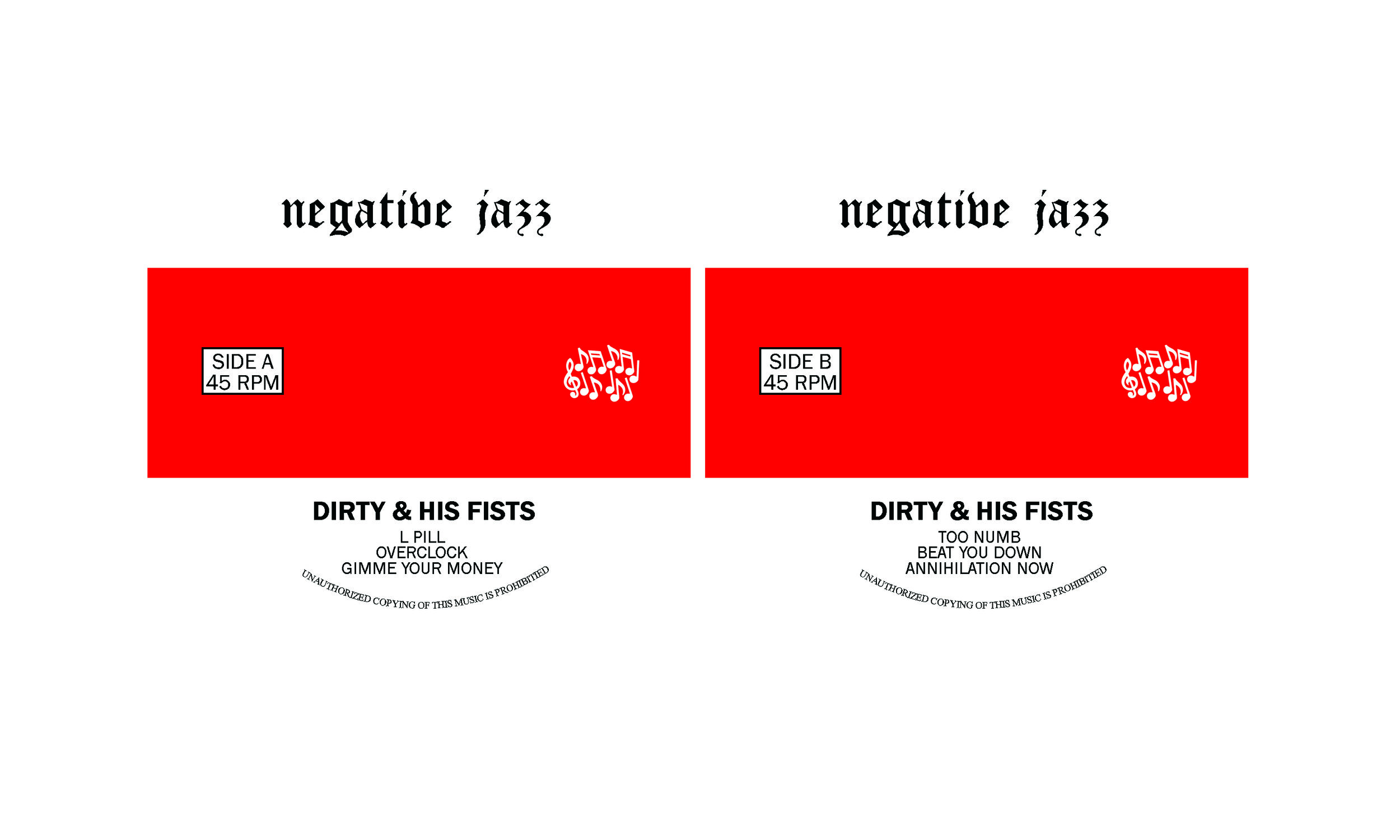 Dirty & His Fists Center Labels