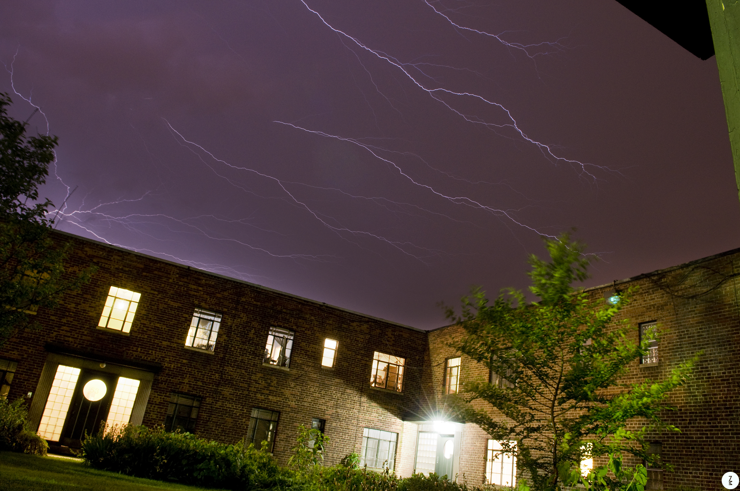 Light Show in the Court Yard   2011