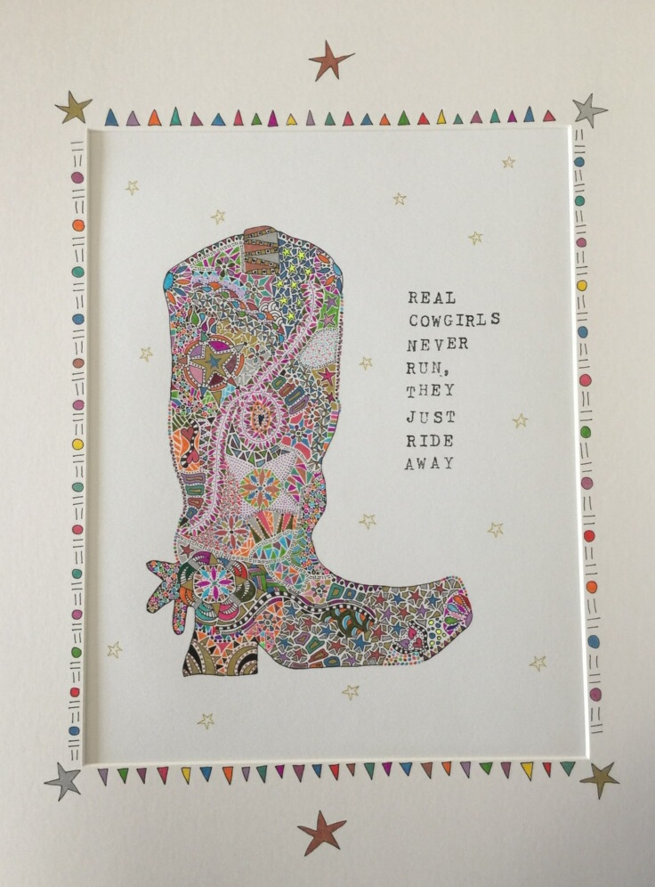 Boot Zentangle by Dana Middlebrook