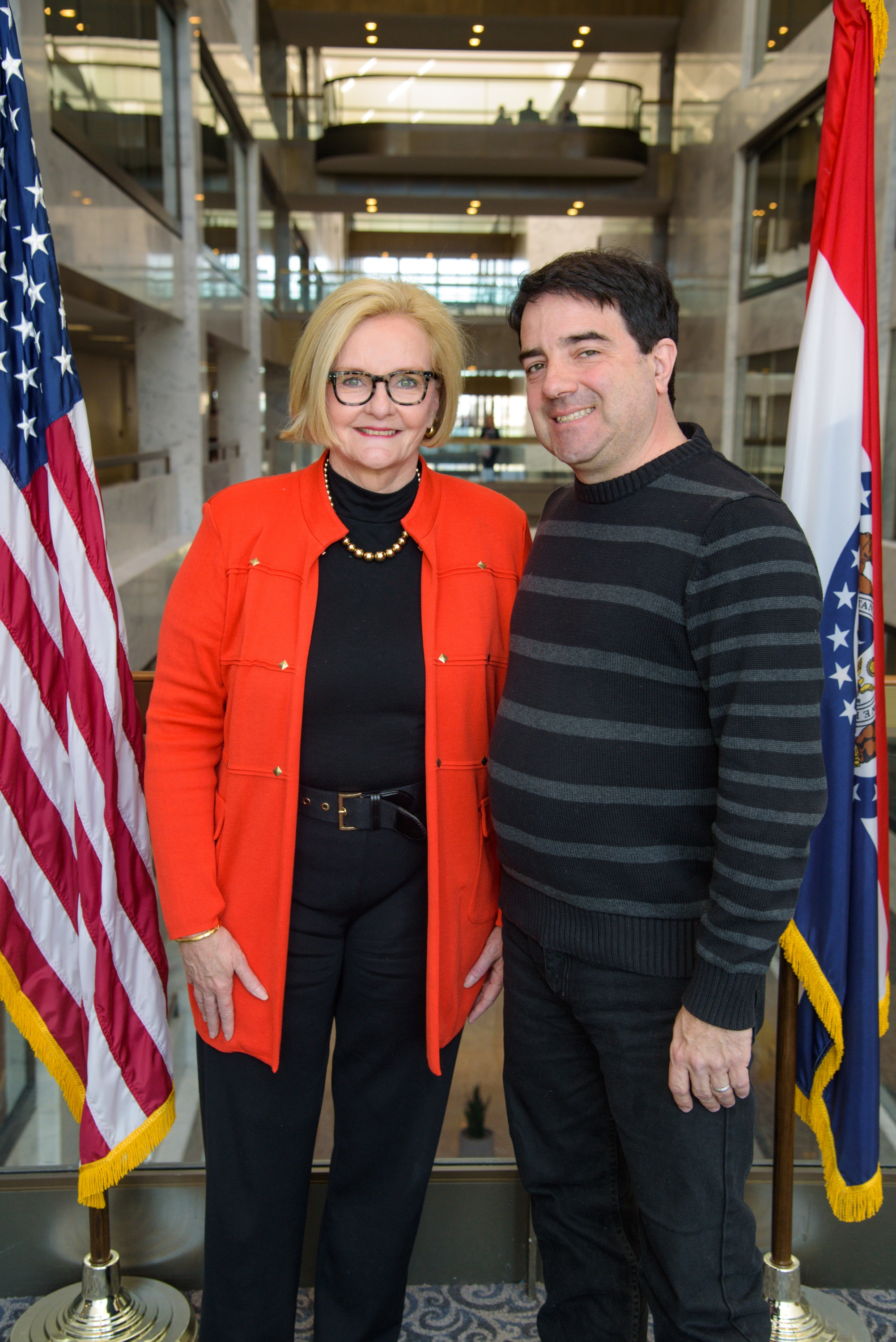 Senator Claire McCaskill and Jim. Photo by Senator Claire McCaskill's staff.