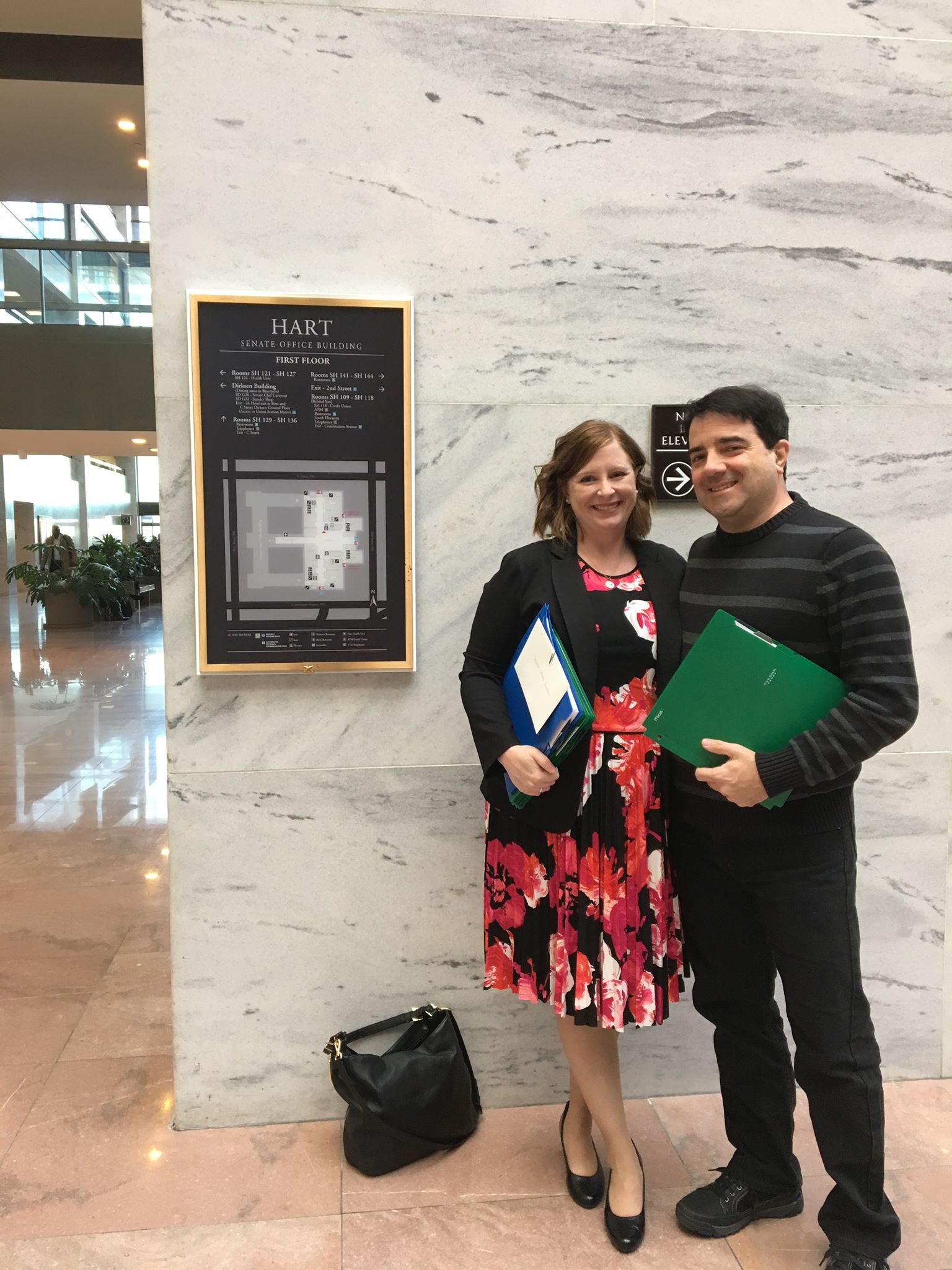 Jim and myself in the Hart Senate Office Building. Photo by Robin Utz