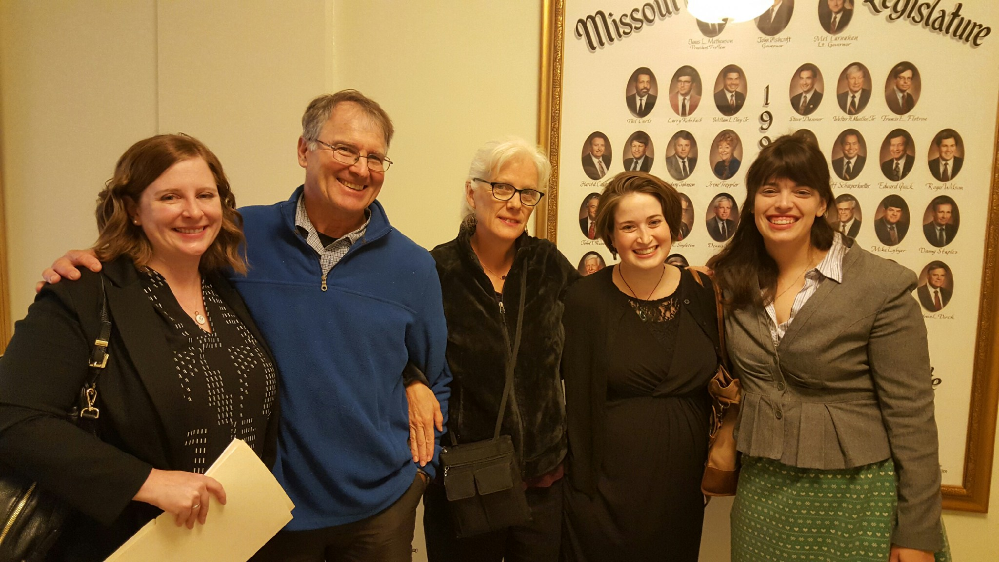 Me, Dan Mosby, Kathy Peterson, Rachel GOldberg, Sarah Baker of the ACLU. Photo by M'Evie Mead