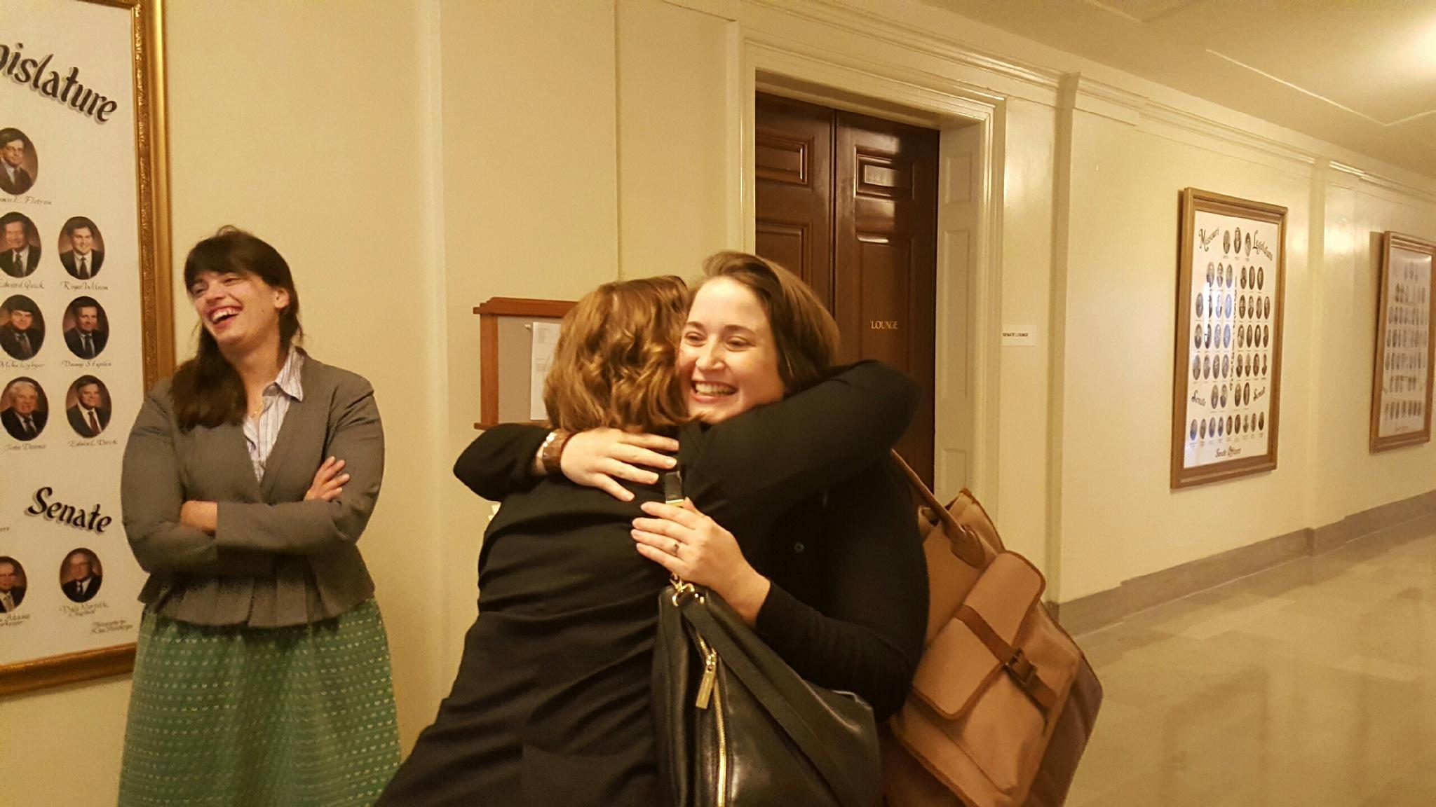 Meeting the amazing Rachel Goldberg! Photo by M'Evie Mead.