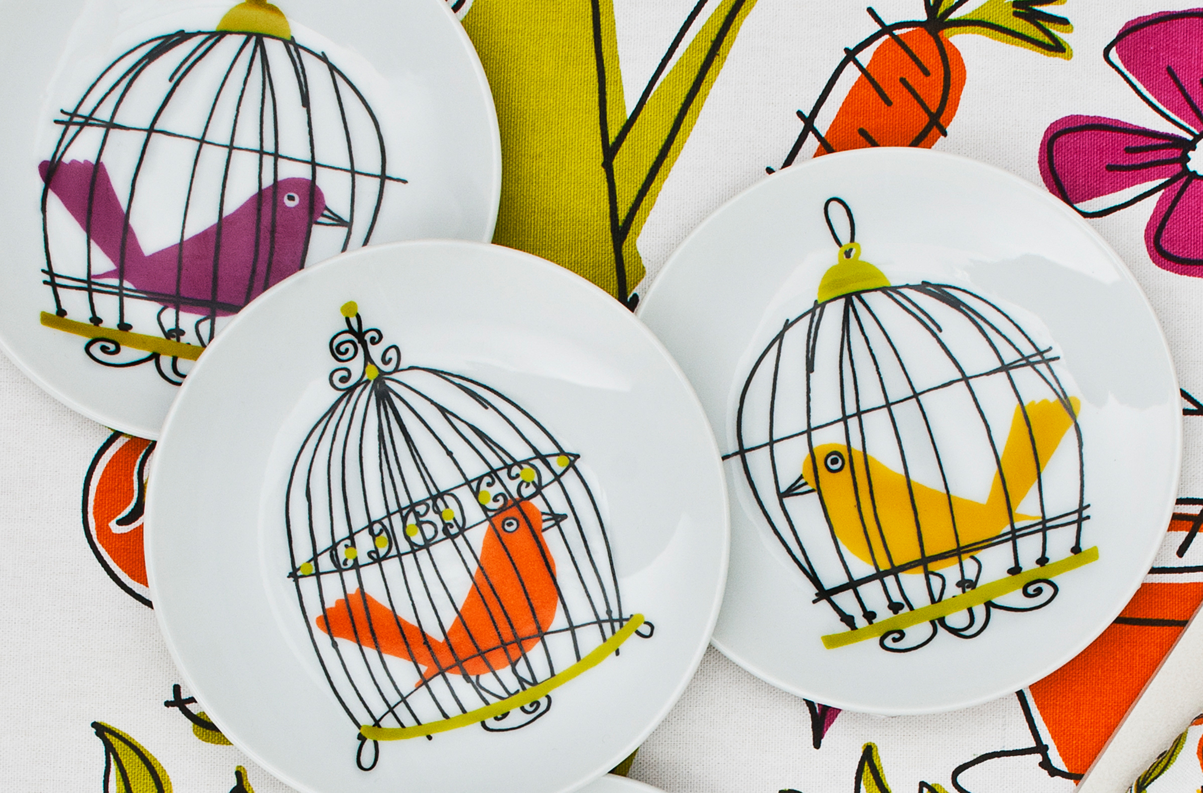 Birdie plates for The Hudson's Bay