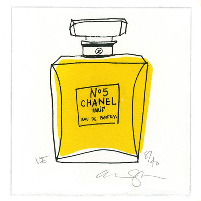 framed yellow chanel.jpg