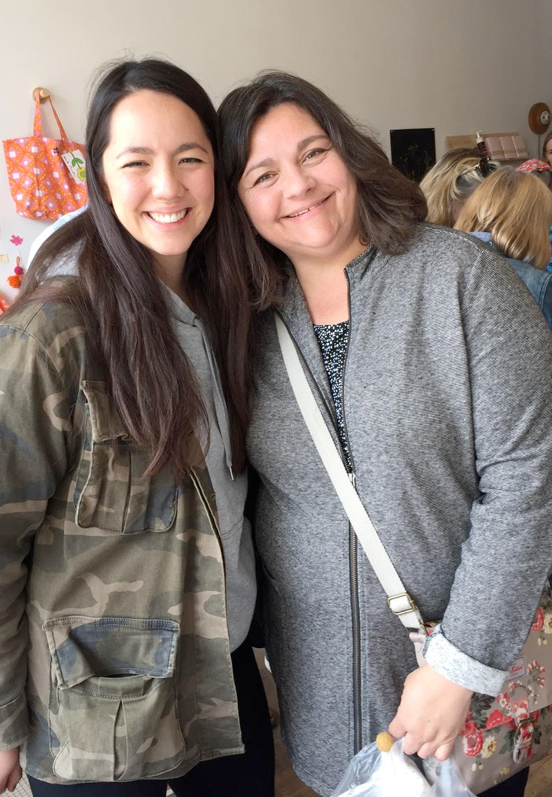Jacqueline and her daughter
