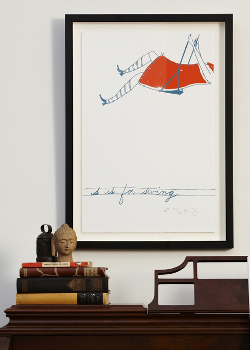 S is for swing print