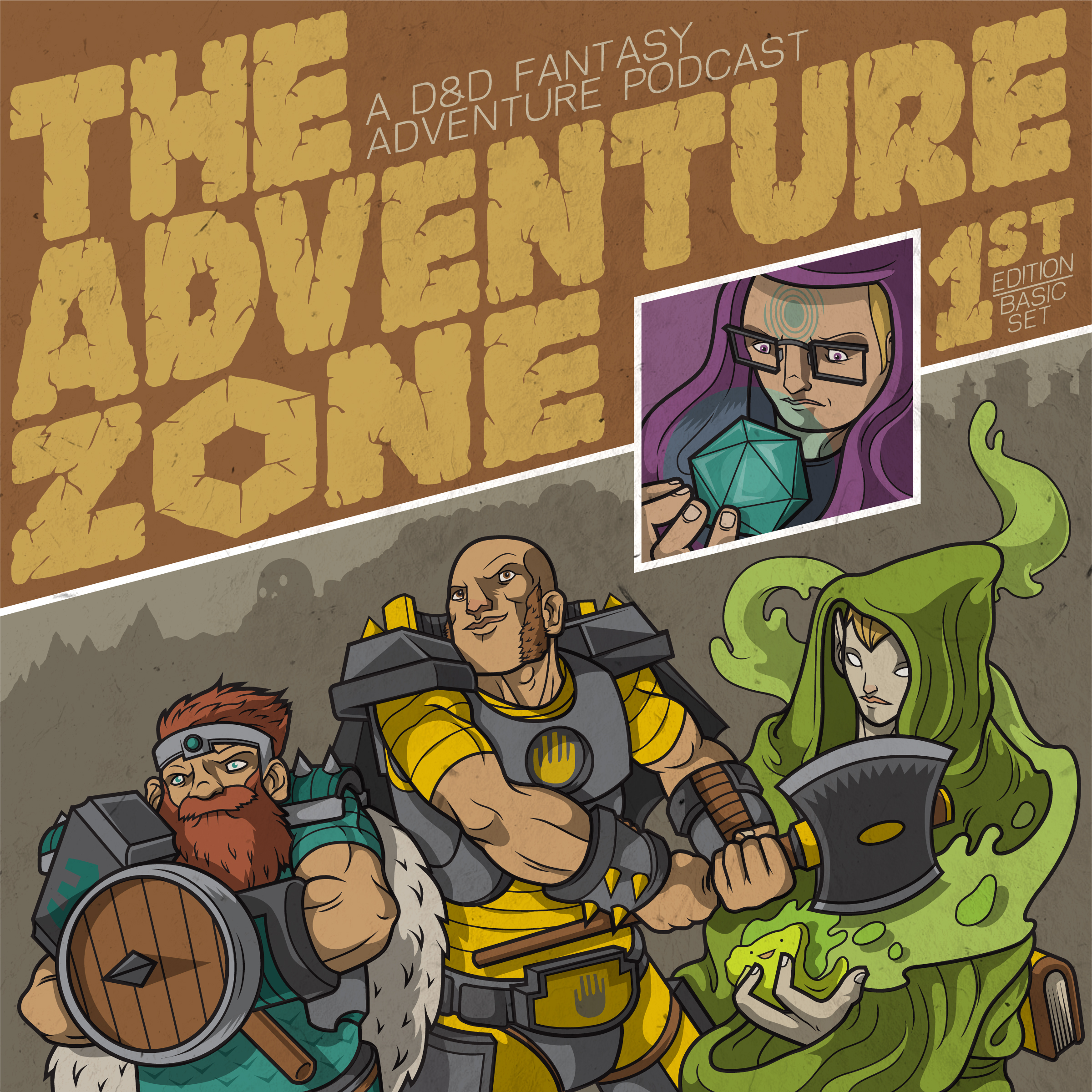 The Adventure Zone is an Actual Play D&D podcast on Maximum Fun featuring myself, my brothers Justin and Travis, and my dad, Clint. I'm the DM for the game, which means I spend lots and lots of time crafting beautiful, intricate narratives that my dumb players try to destroy at every turn. I also edit and compose music for The Adventure Zone.