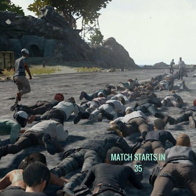 Awful Squad is a weekly live-streaming series on Polygon that I guest on a lot! We play Playerunknown's Battlegrounds, a very popular game that we are all very terrible at. It is a delight, even though — and I cannot stress this enough — our skills at this game are absolute garbage.