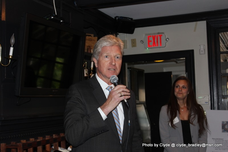 Secretary Moran speaking at the JFV Richmond Justice Reform Kickoff Party on May 8, 2019