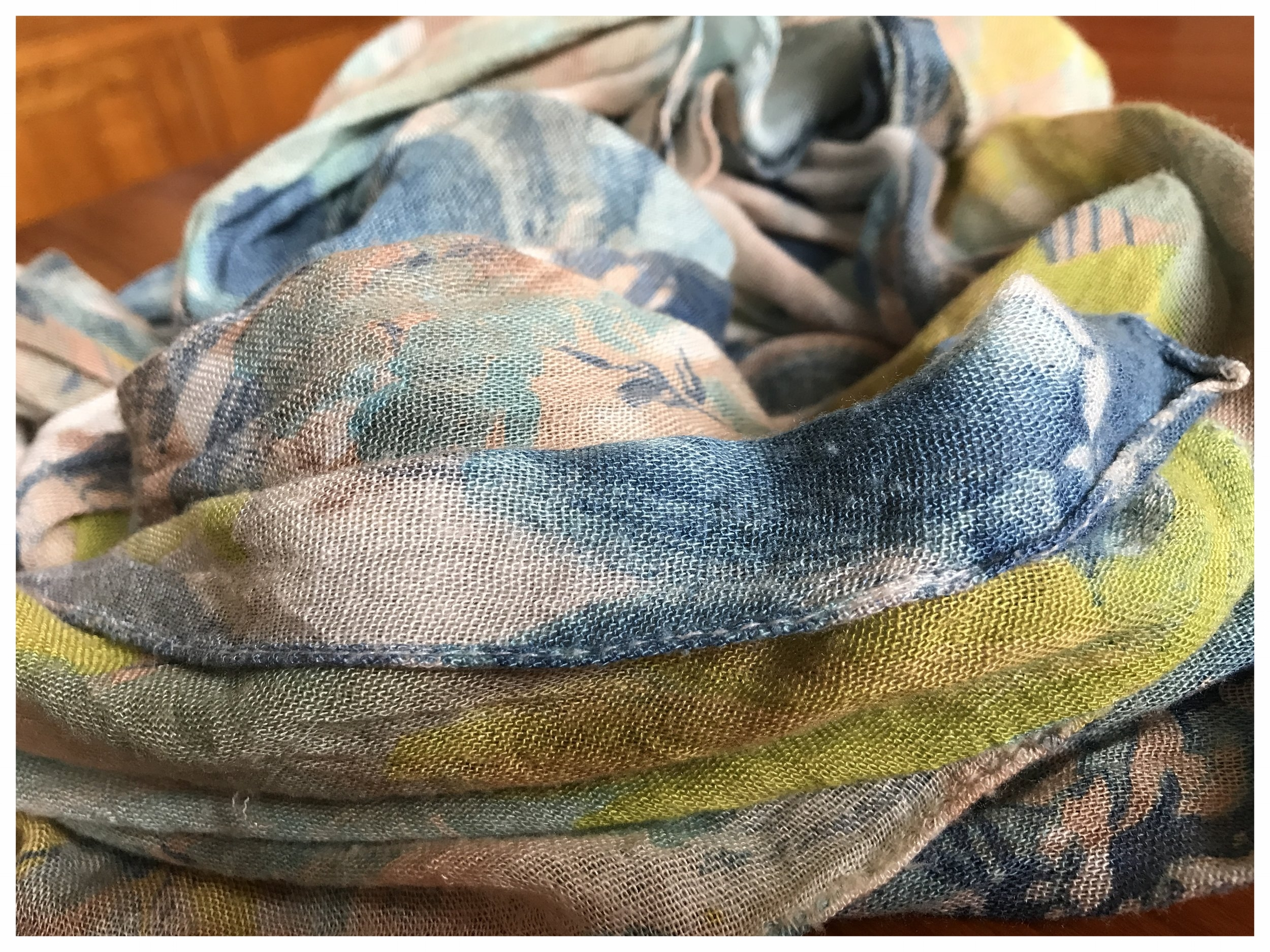 One of B--'s scarves - showing off the best of summer colours.