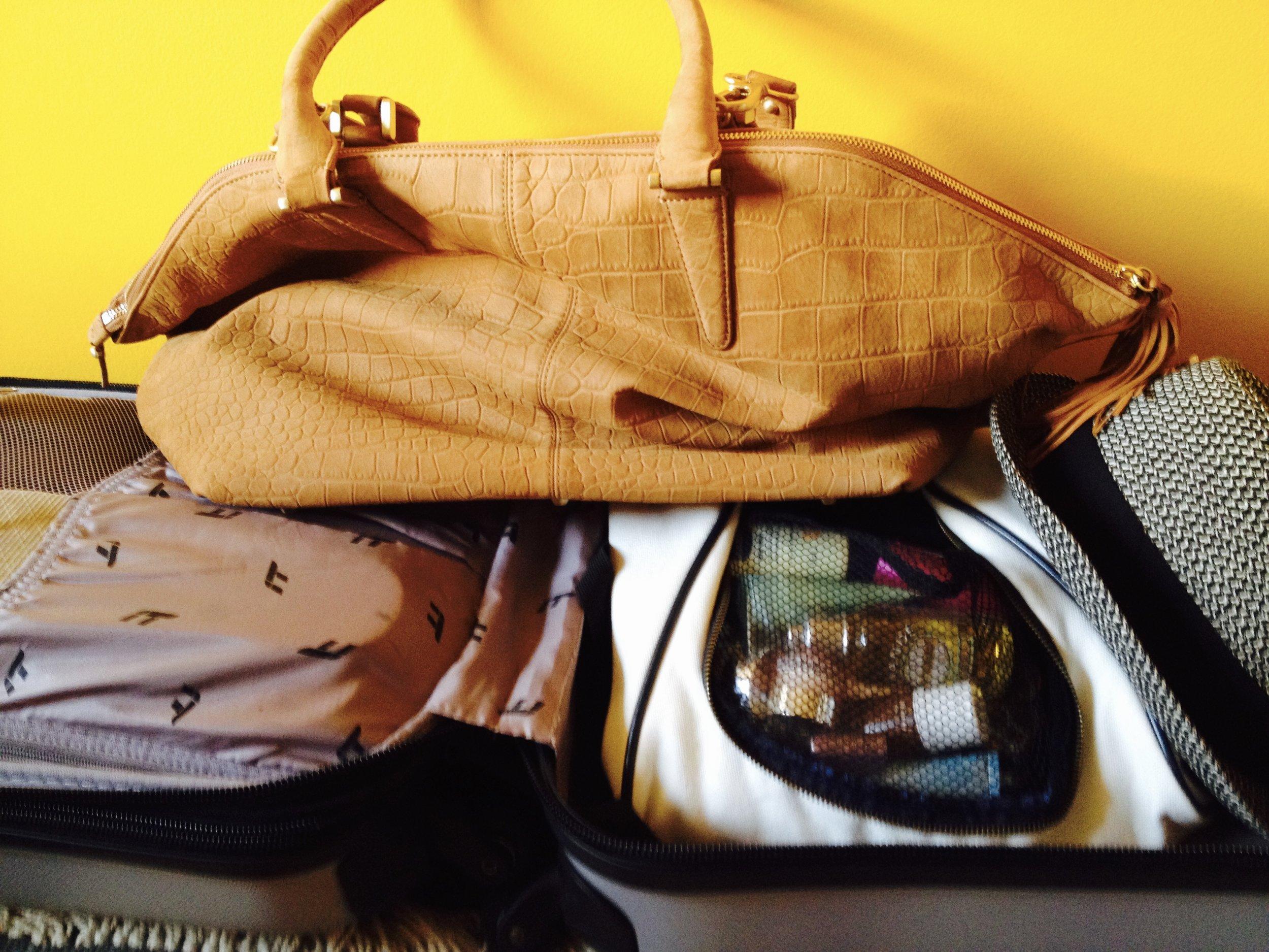 My soft leather handbag