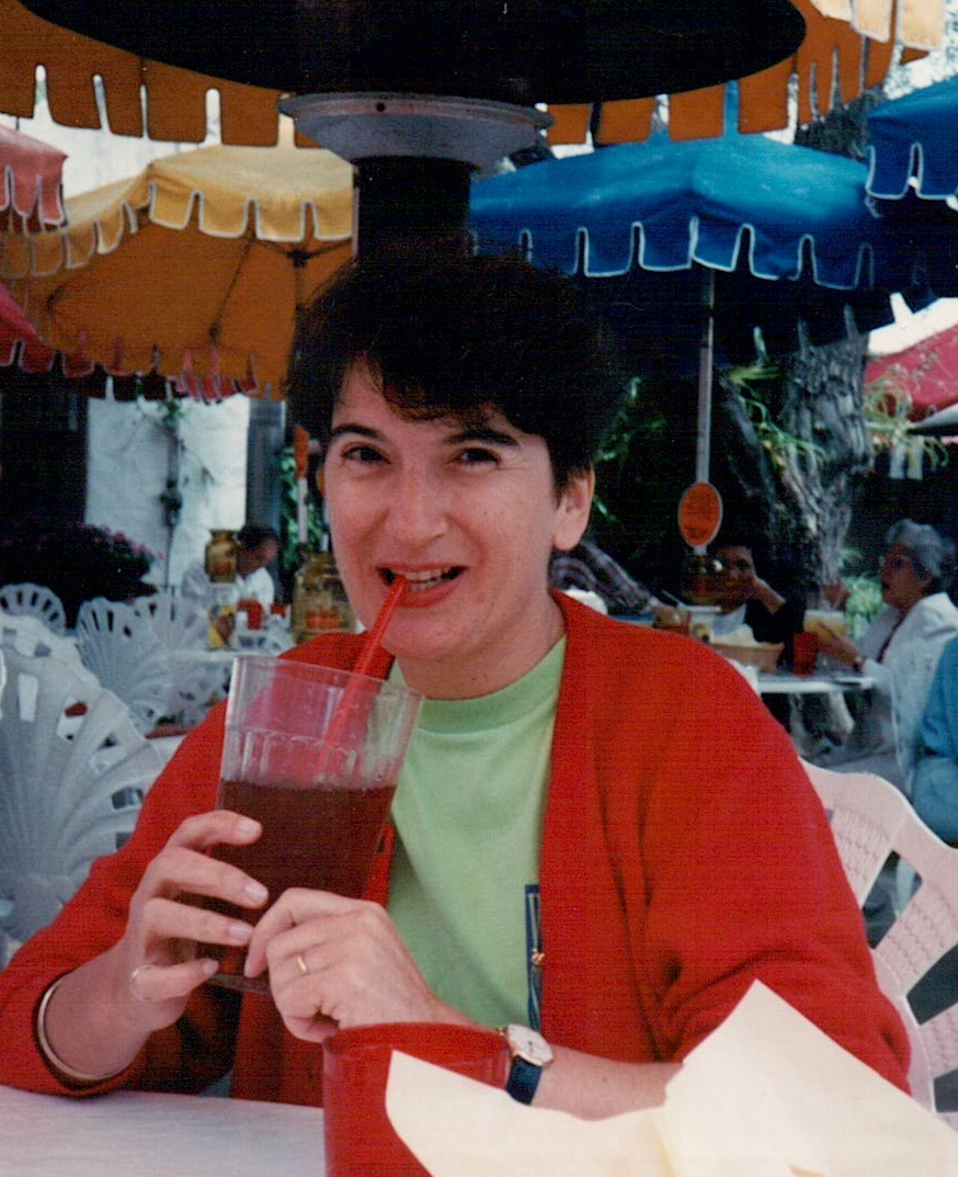 On holiday in the 1990s, wearing a t-shirt the wrong colour for me!