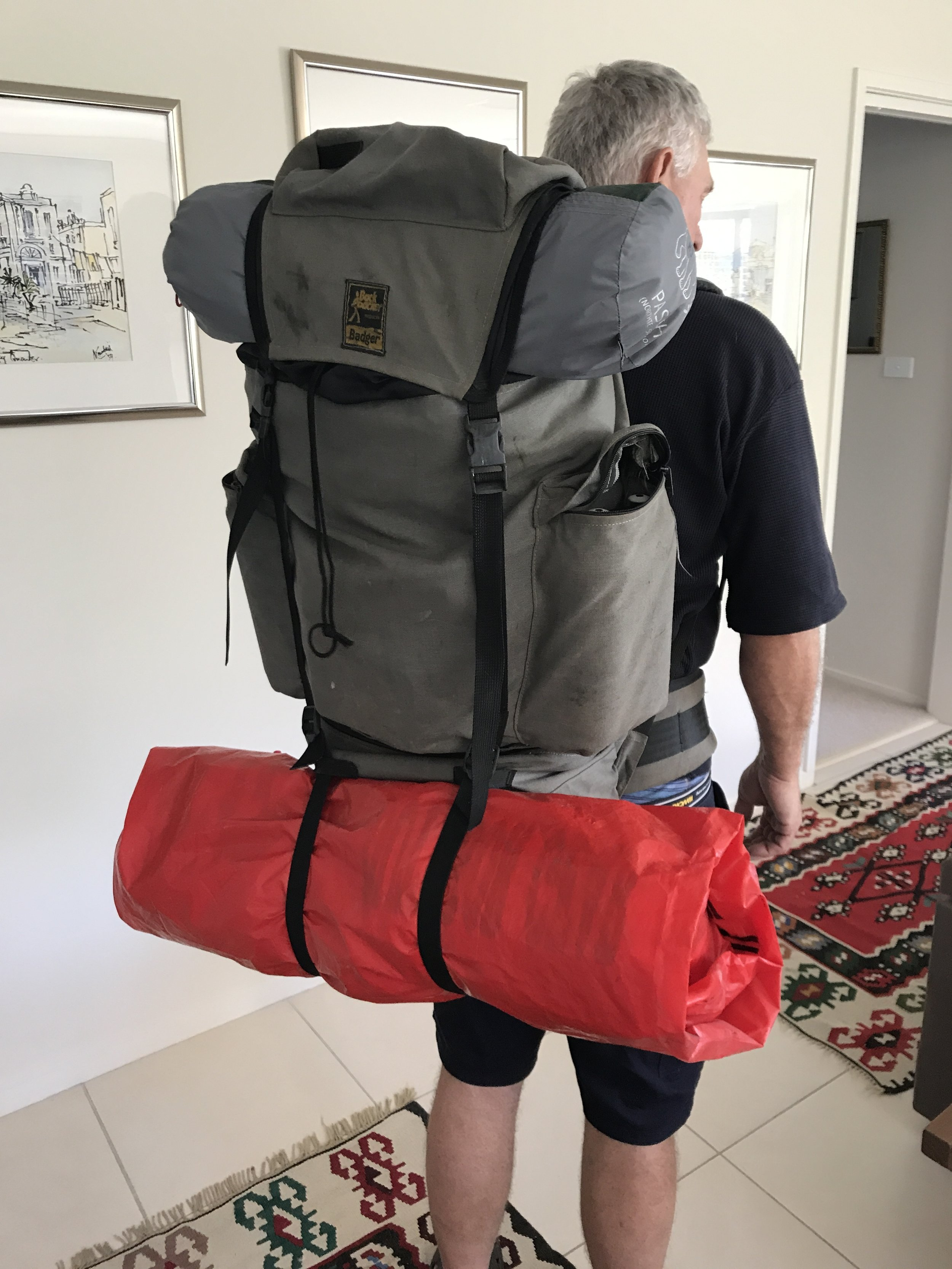 Mr PetMan tries out his 22 kg pack